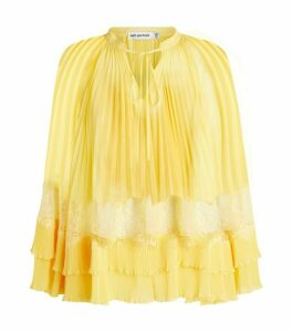 Self-Portrait Pleated Chiffon Blouse