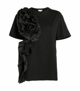Alexander McQueen Rose Drape T-Shirt