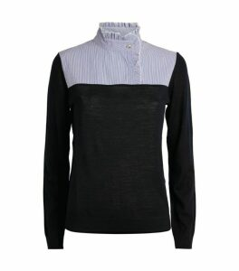 Claudie Pierlot Striped Bib Top