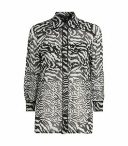 AllSaints Esther Zebra Remix Shirt