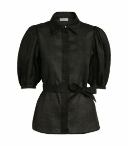 Sandro Paris Puff-Sleeved Shirt