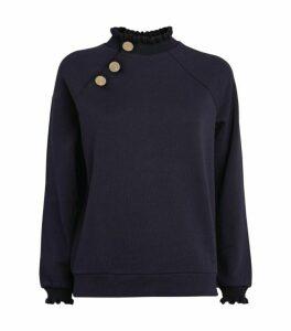 Claudie Pierlot Button Embellished Sweatshirt