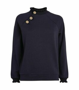 Claudie Pierlot Button Embellished Sweatshirt
