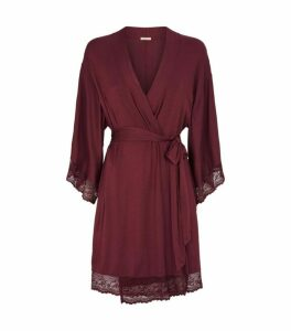 Eberjey Lace Trim Robe
