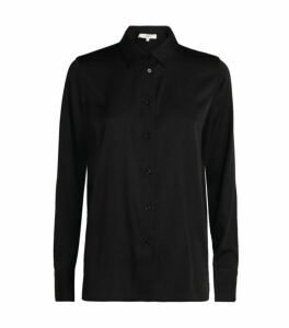 Vince Slim-Fit Silk Blouse