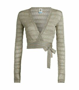 M Missoni Metallic Knit Ballet Top