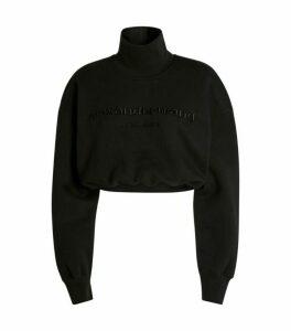 Alexander Wang Crop Funnel Neck Sweatshirt