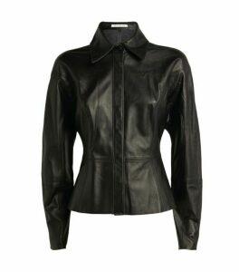CAMILLA AND MARC Leather Wyatt Shirt