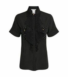 Max Mara Cile Silk Ruffle Shirt