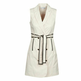 Morgan  ROSAE  women's Dress in Beige
