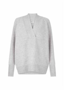 Brielle Wool Blend Sweater Grey