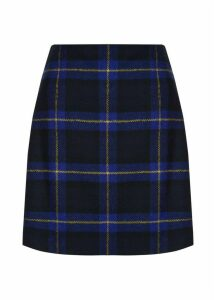 Elea Wool Skirt Sapphire Multi