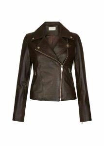 Thea Leather Jacket Chocolate