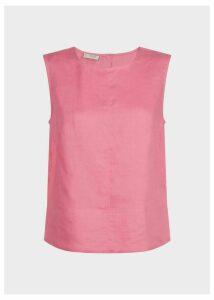 Linen Halle Top Rouge Pink