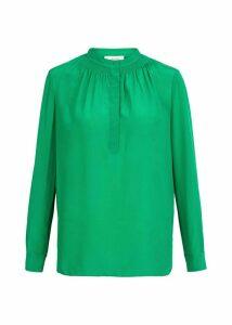 Kali Silk Blouse Apple Green