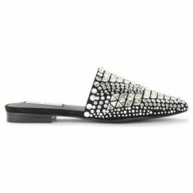 Steve Madden  Tiara sabot in black micro suede with rhinestones  women's Clogs (Shoes) in Black