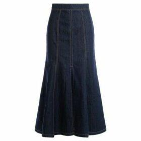 Kenzo  midi skirt in dark blue denim  women's Skirt in Blue