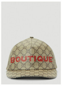 Gucci Boutique Print Baseball Cap in Brown size M