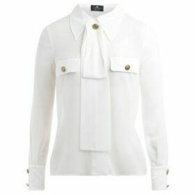 Elisabetta Franchi  Camicia  avorio colletto con fiocco  women's Shirt in White