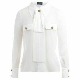 Elisabetta Franchi  Camicia  avorio colletto con fiocco  women's Shirt in White