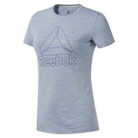 Reebok Sport  TE Marble Logo Tee  women's T shirt in Grey