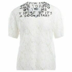 Mm6 Maison Margiela  SIDA model t-shirt made of white lace  women's T shirt in White