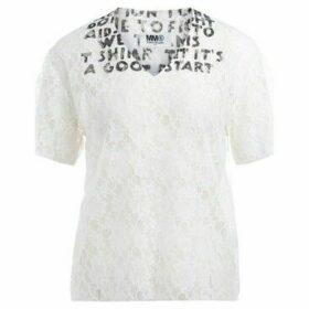 Mm6 Maison Margiela  SIDA model t-shirt made of white lace  women's T shirt in White