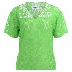 Mm6 Maison Margiela  SIDA model t-shirt made of acid green lace  women's T shirt in Green