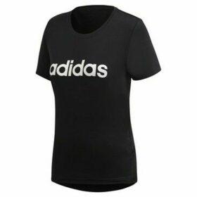 adidas  D2M Logo Tee  women's T shirt in Black