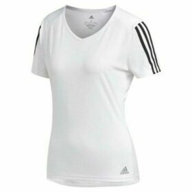 adidas  Run 3S Tee  women's T shirt in White