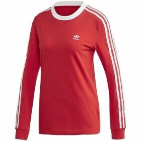adidas  3STRIPES Tee  women's Sweatshirt in Red