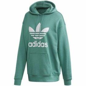 adidas  Adicolor Trefoil Hoodie  women's Sweatshirt in Green