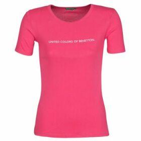Benetton  RAYMONDE  women's T shirt in Pink