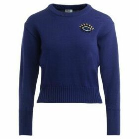 Kenzo  Eye sweater with pearls applied  women's Sweater in Purple