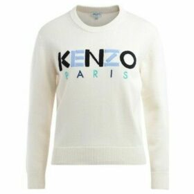 Kenzo  Paris sweater in ecru cotton with logo  women's Sweater in Beige