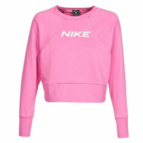Nike  W NK DRY GET FIT FC CW CP EL G  women's Sweatshirt in Pink