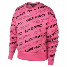 Nike  Pro Fleece Crew Print W  women's Sweatshirt in Pink