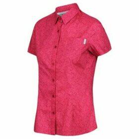 Regatta  Honshu IV Printed Short Sleeved Shirt Pink  women's Shirt in Pink