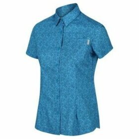 Regatta  Honshu IV Printed Short Sleeved Shirt Blue  women's Shirt in Blue