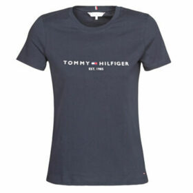 Tommy Hilfiger  NEW TH ESS HILFIGER CNK TEE SS  women's T shirt in Blue