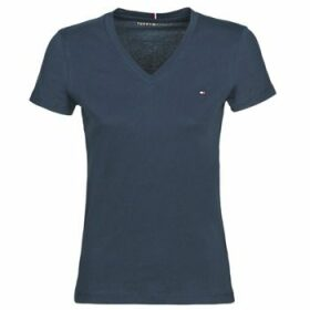 Tommy Hilfiger  HERITAGE V-NECK TEE  women's T shirt in Blue