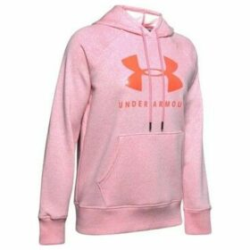 Under Armour  Rival Fleece Sportstyle Graphic Hoodie  women's Sweatshirt in Pink