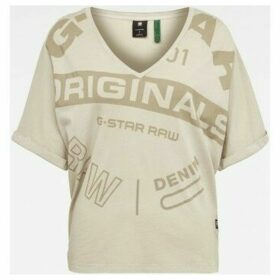 G-Star Raw  D16273 B059 JOOSA  women's T shirt in Beige