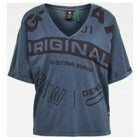 G-Star Raw  D16273 B059 JOOSA  women's T shirt in Blue