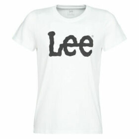 Lee  LOGO TEE  women's T shirt in White