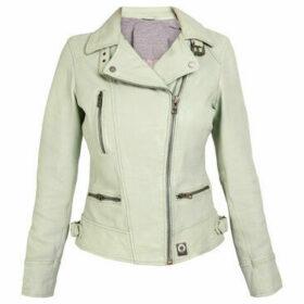 Oakwood  Leather biker jacket VIDEO  women's Leather jacket in Green