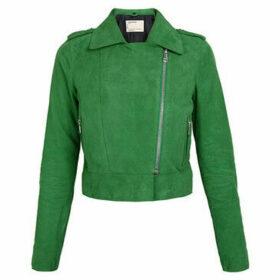 Oakwood  ZULINA goat leather zipped short jacket  women's Leather jacket in Green