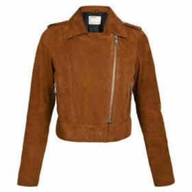 Oakwood  ZULINA goat leather zipped short jacket  women's Leather jacket in Orange