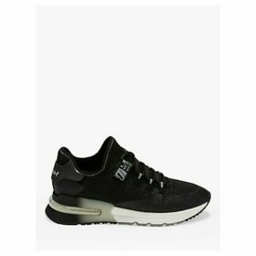 Ash Krush Glitter Knitted Trainers, Black