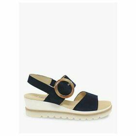 Gabor Yeo Suede Buckle Strap Wedge Heel Sandals